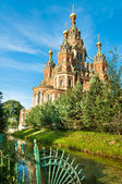 Sts Peter and Paul cathedral, Petergof, St Petersburg, Russia — Stock Photo