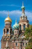 こぼした血、サンクトペテルブルク、ロシアの上の救世主教会 — ストック写真