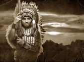 Native American Woman — Stockfoto