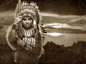 Native American Woman — Stock Photo