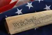 The American Flag and the Constitution — Stock Photo