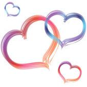 Heart shape design for love symbols — Stock Vector