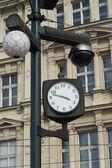 Street clock with camera system — Stock Photo