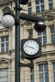 Street clock with camera system — Stock Photo