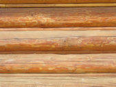 Beautiful Natural Background Pattern of a Log Wall — Stock Photo