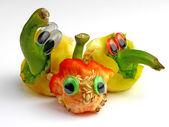 Amigos divertidos verduras emociones, nº 02 — Foto de Stock