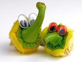 Amigos divertidos verduras emociones, nº 01 — Foto de Stock