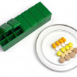 Stock Photo: Medication box for daily ration of patient