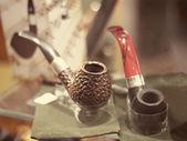 Retro pipes and Tobacco design — Stock Photo
