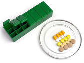 Medication box for the daily ration of a patient — Stock Photo