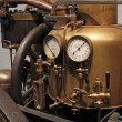 Steam engine, the pressure indicator — Stock Photo