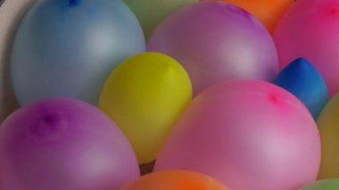 Compressed colorful balloons — Stock Video