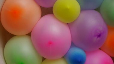 Compressed colorful balloons No. 02 — Stock Video