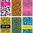 Set of valentine's background labels for cover phone No.11 — Stockvector