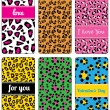 Set of valentine's background labels for cover phone No.11 — Vetorial Stock