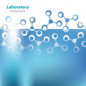 Abstract light blue medical laboratory background. — Stock Vector