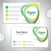 Universal organic green whirlpool business card. — ストックベクタ