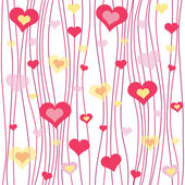 Seamless abstract valentines patterns — Vector de stock