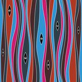 Sömlös abstrakt mystiska mönster — Stockvektor