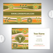 Universal flowery pattern business card. — Vettoriale Stock #40986231