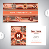 Universal flowery pattern business card. — Stock Vector