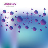 Abstract violet-blue medical laboratory background. — 图库矢量图片