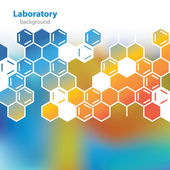 Abstract orange-blue medical laboratory background. — ストックベクタ