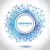 Abstract blue-violet medical laboratory circle element. — Vetorial Stock