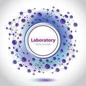 Abstract violet-blue medical laboratory circle element. — Stock Vector