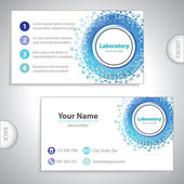 Universal blue laboratory business card. — Vetorial Stock