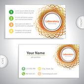 Universal orange laboratory business card. — Stock Vector