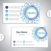 Universal blue-violet laboratory business card. — Stock Vector