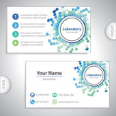 Universale mare verde-laboratorio business card. — Vettoriale Stock