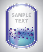 Abstract violet-blue medical laboratory label — Stock Vector