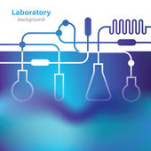 Abstract bluish medical laboratory background. — Stockvector