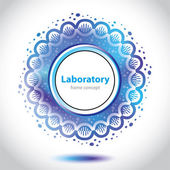 Abstract azure medical laboratory circle element. — Stock Vector