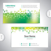 Universal greenish medical laboratory business card. — Stock Vector