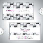 Universal gray luxury business card. — Stock Vector