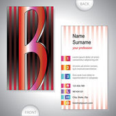 Universal business card with initials B — Stock Vector