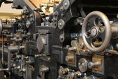 Old printing press, Old printing press, sheet-fed printing — Stock Photo