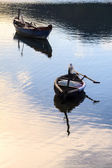Boat on the Lap An pond, Lang co town, Hue, vietnam — Stock Photo