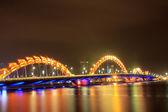 Night bridge — Stock Photo