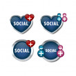 Social network icons — Stock Vector