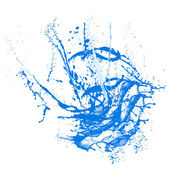 Sketch of blue paint — Stock Photo