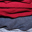Folded sweaters — Stock Photo