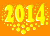 New year 2014. — Stock Vector