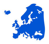 Blue Europe silhouette. — Stock Vector
