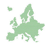 Europe silhouette. — Stock Vector