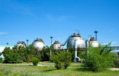 Tanks of gasoline to oil plant — Stock Photo