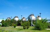 танки бензина нефти завод — Стоковое фото